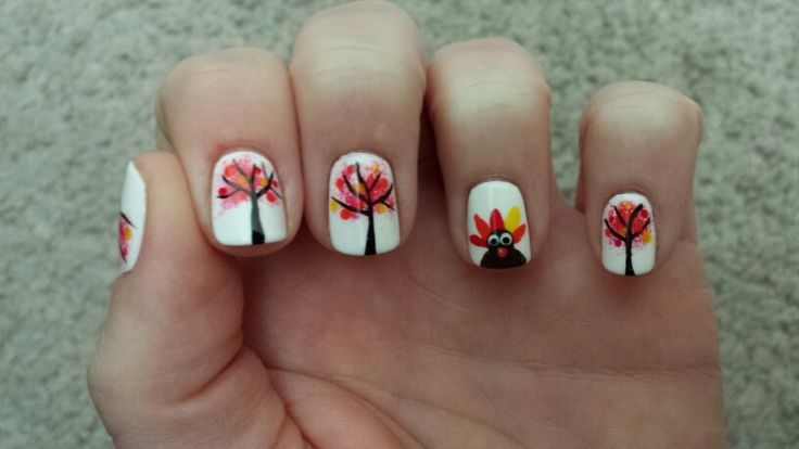 1000+ images about Thanksgiving nails on Pinterest
