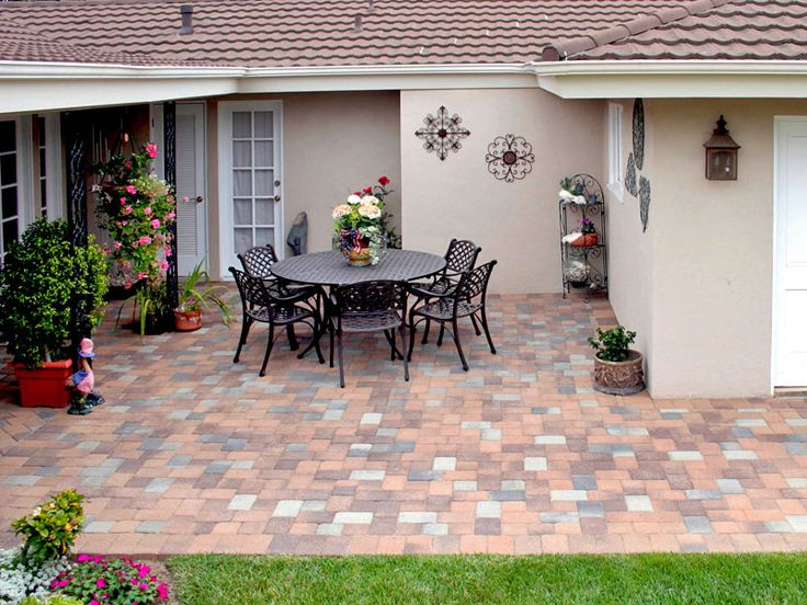 Patio Paving Stones Photos  Interlocking Paver Designs