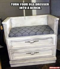 Could be a good baby changing table as well...turn an old ...