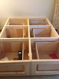 Diy Platform Bed With Drawers