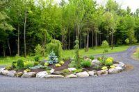 Circular Driveway Evergreen Landscaping Ideas | Conifers ...