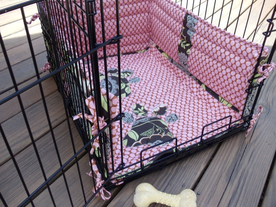 Dog crate pad and bumper pads Our dog does need bumper