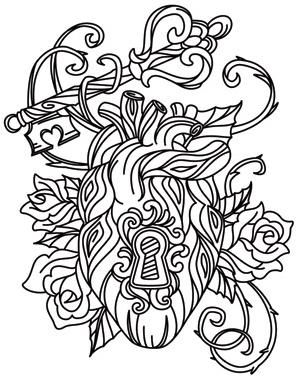 17 Best images about Hearts + Love Coloring Pages for