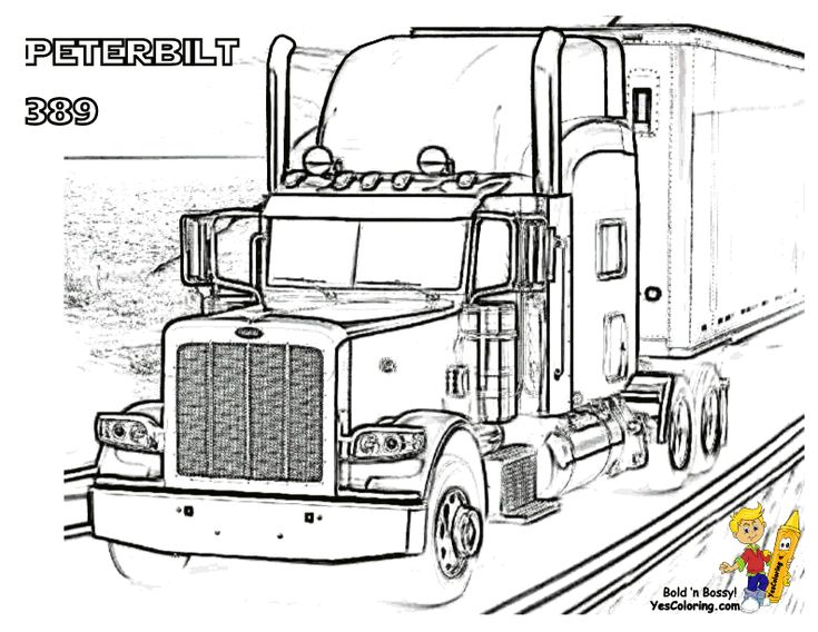 8 best images about Coloring Pages: Trucks on Pinterest