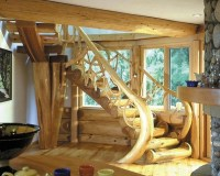 1000+ images about Rustic staircases on Pinterest | Log ...