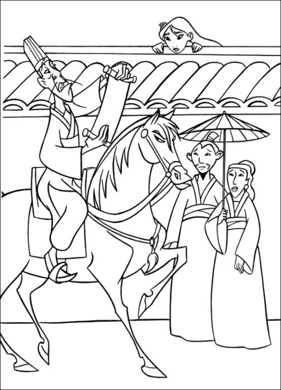17 Best images about Coloring Pages (Mulan) on Pinterest