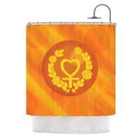 Orange And Yellow Shower Curtain | Curtain Menzilperde.Net