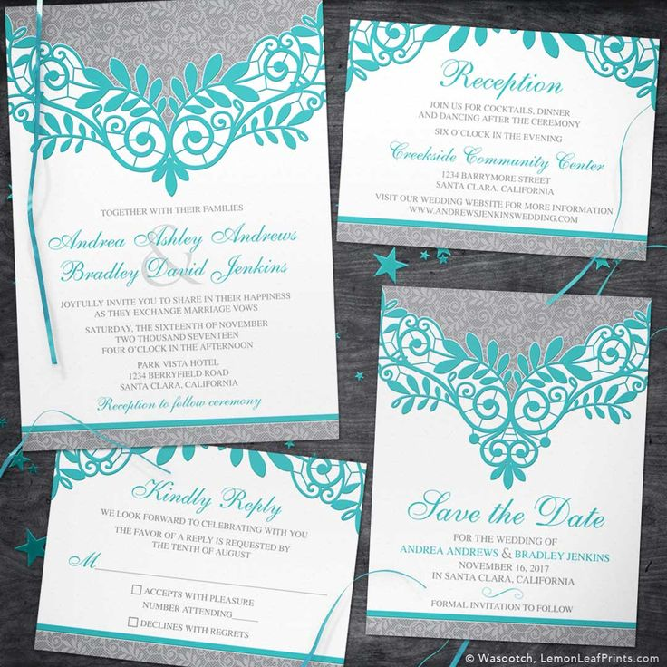 Blinged Wedding Out Invitations