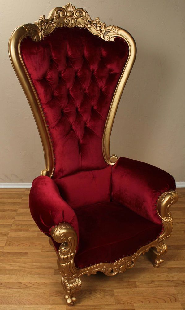 red chaise lounge chair stackable chairs sale details about carved mahogany louis xv beregere armchair regal throne gold velvet ...