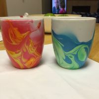 DIY nail polish watercolor coffee mugs | Nailed It ...