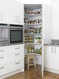 Floor-to-Ceiling Kitchen Corner Cabinet | Kitchen ...