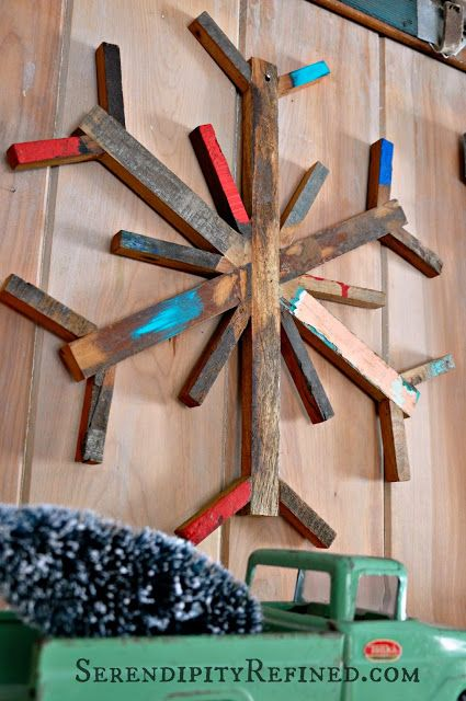 country kitchen ideas on a budget metal cabinet pallet snowflake | diy: christmas crafts, decor, and ...