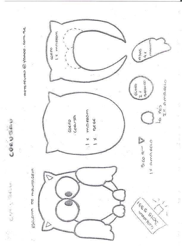 Folded Owl Pincushion Pattern