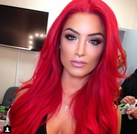 Natalie Eva Marie Red Hair Total Divas WWE  Hair