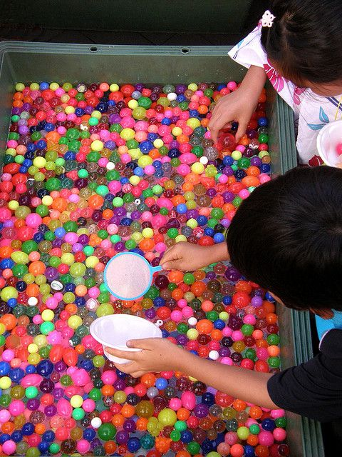 Japanese festival game Goldfish or Bouncy Ball Scooping