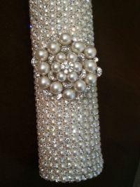 FREE SHIPPING - Rhinestone & Pearl Bridal Bouquet Holder ...