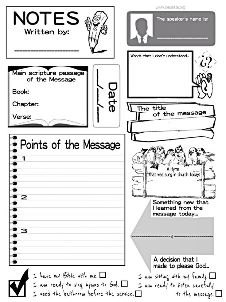 54 best Sermon Note Templates images on Pinterest