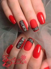 ideas red nail art
