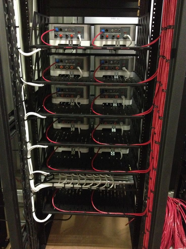 Network Patch Cable Wiring Diagram Rear View Of A Main Equipment Rack Being Pre Built Off