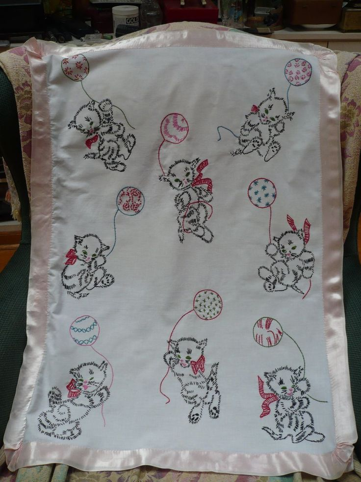 17 Best Images About Embroidered Baby Blankets On