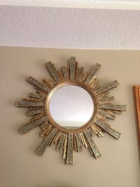 Large Round Sunburst ~ Starburst Wall Mirror ~ Home Decor ...