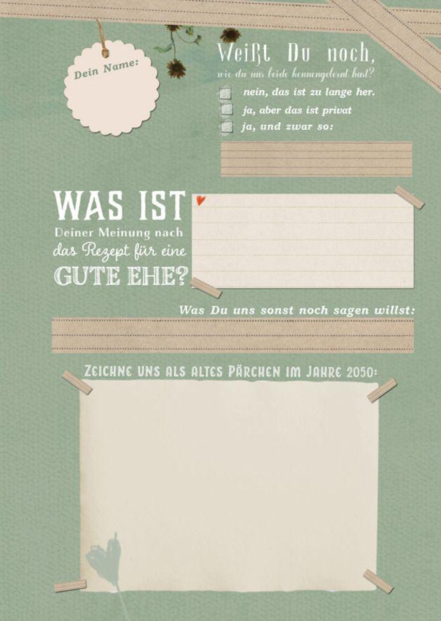 Hochzeitsgstebuch LEBE LIEBE LACHE mit Fragen A4  Hochzeit