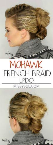 french braid mohawk ideas