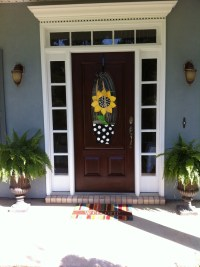 1000+ images about burlap door hangers on Pinterest ...