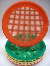 Lot of 15 Vintage Plastic Paper Plate Holders Woven Wicker ...