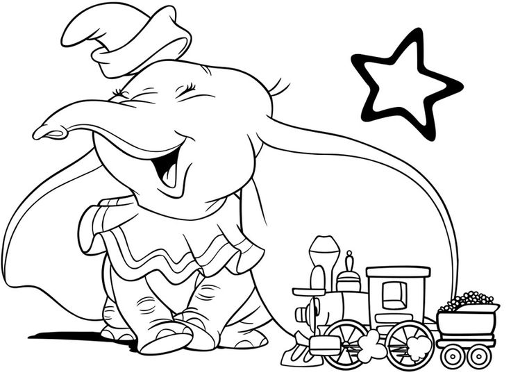 17 Best images about Dumbo ~ Disney Coloring Pages on