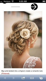 country wedding hairstyle.'