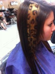 animal print hair super cute