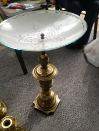 Repurposed lamp and ceiling light fixture into a bird bath ...