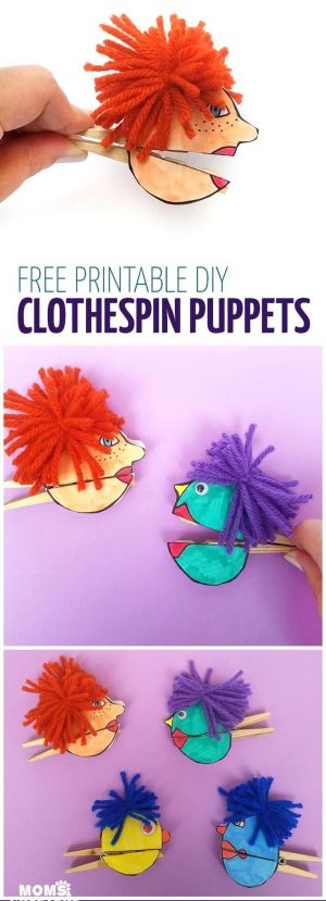 craft crafts paper easy simple puppets open diy adults cool printable clothespin adult projects close which eyes