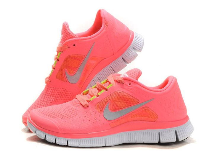 hot punch nike free run chaussures de course femme coral rose qx