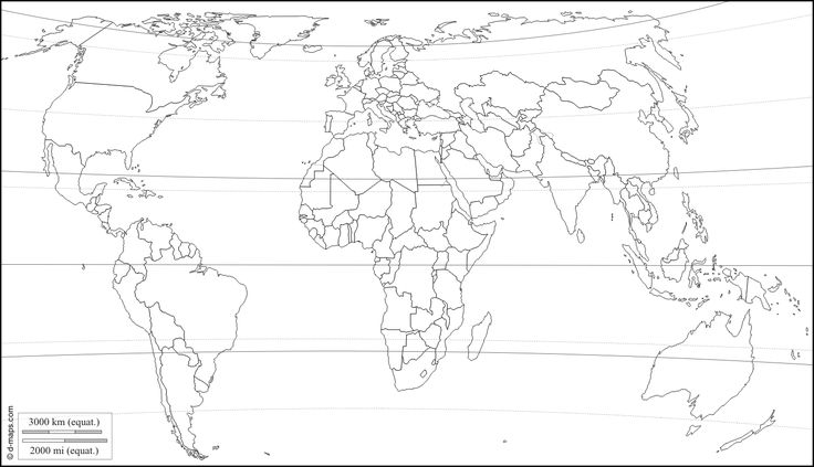 World Europe and Africa centered : free map, free blank