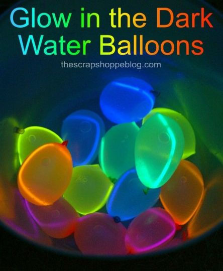 how to make glow in the dark water balloons