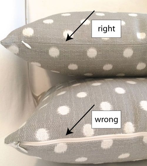 Make a pillow cover with an