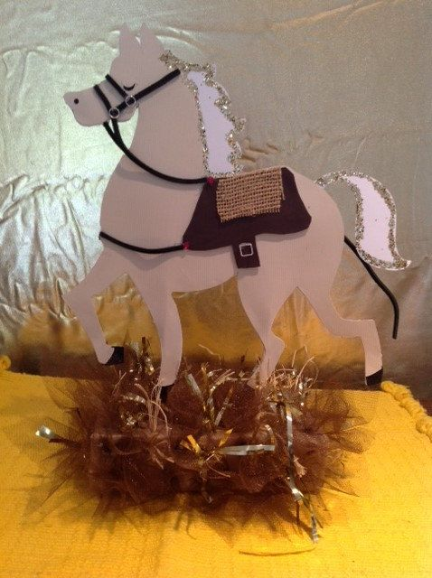 Cowboy Cowgirl Horse Centerpiece Or Birthday By