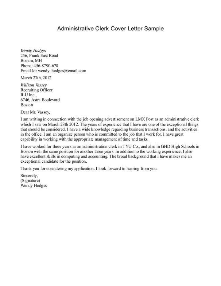 Cover Letter Template Reception Clerk   Sample Resume Alif
