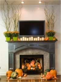 Fireplace Mantle Decorating Ideas for Fall. | Holiday ...