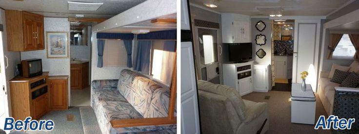 16 Year Old Jayco Travel Trailer Gets Interior Decor Makeover  Mirror glass Jayco travel