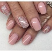 ideas pink gel nails