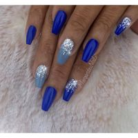 25+ best ideas about Royal blue nails on Pinterest