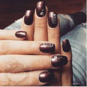 1000 ideas brown nail design