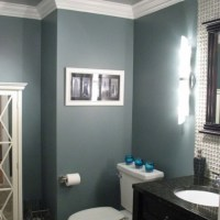 Blue gray bathroom. Love this color! | dream homes ...