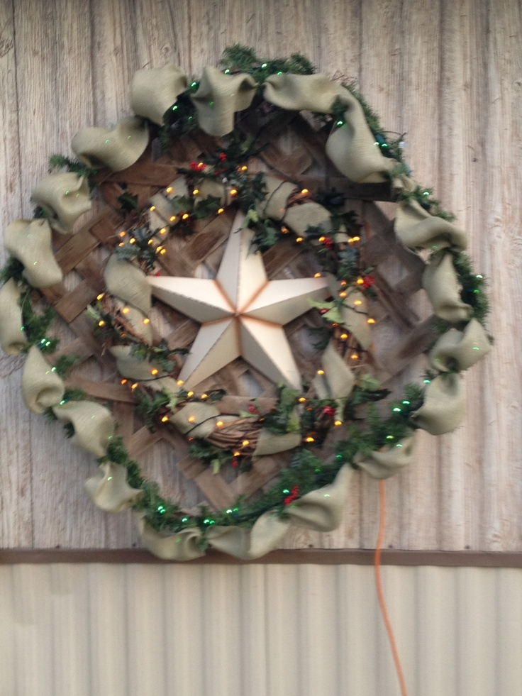 Christmas Decoration Made With An Old Tobacco Basket