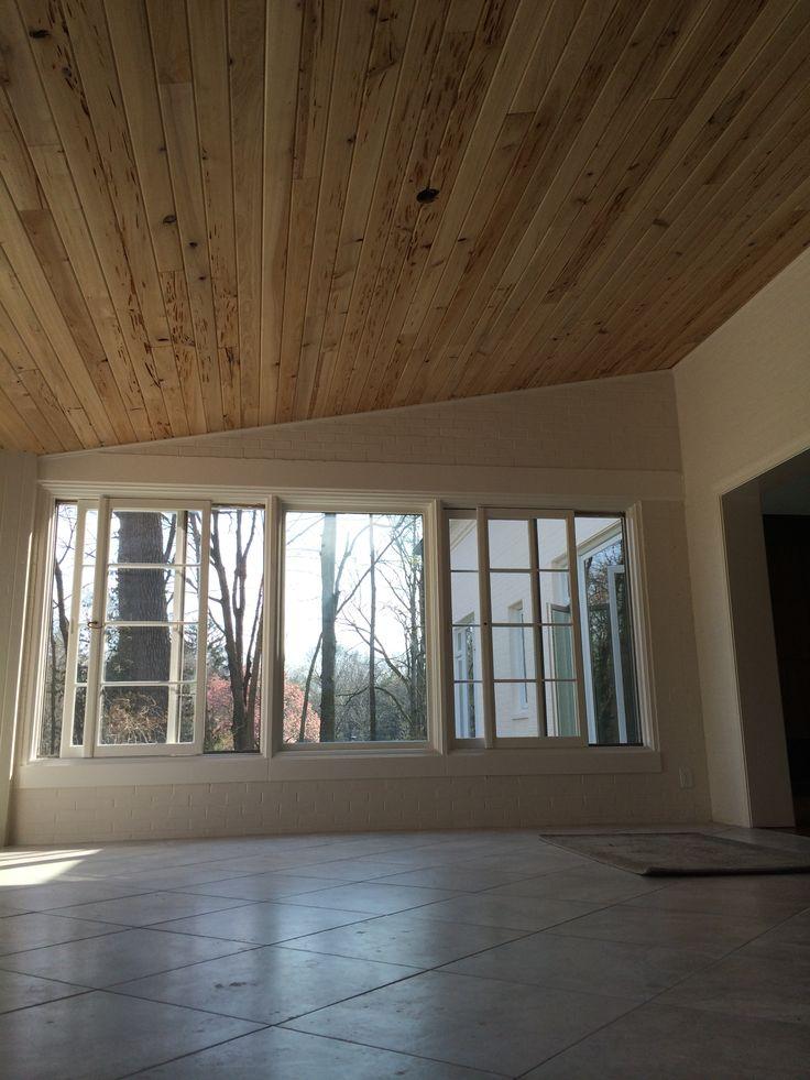 Pecky Cypress ceiling  Sun Porch  Pinterest  Ceilings