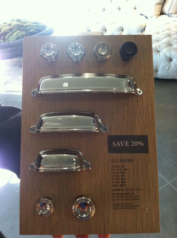 kitchen backsplash trim ideas used sinks for sale restoration hardware gilmore knobs and pulls | kitchens ...