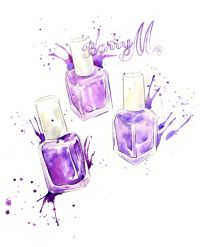211 best images about Nail polish illustrations on ...
